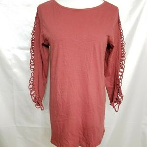 NWT Pepin Anthropologie Lace Up Cutout Long Sleeve